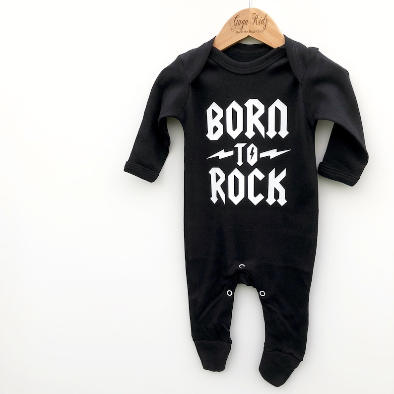 Heavy Metal Baby Romper Rock n Roll Alternative Baby Shower image 0