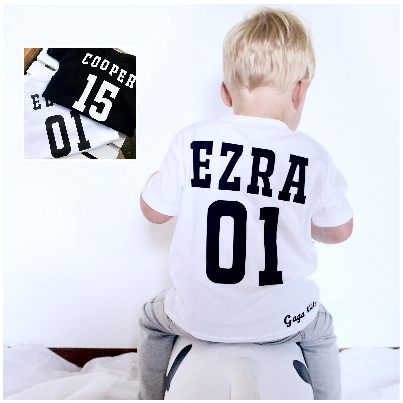 e81fce32ded58 Custom Kids Sports T-Shirt, Baby Football Shirt, Sport Number Shirt, Baby  Baseball Shirt, Kids Name Number Shirt, Football Children's TShirt