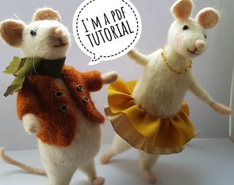 PDF to make a Posable mouse-printable needle felting tutorial with equipment list-Mary Jane Lillie Felting, Workshops and  Supplies