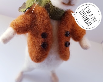PDF to make a jacket or jumper for my posable animals including a list of helpful tips for needle felting - printable tutorial