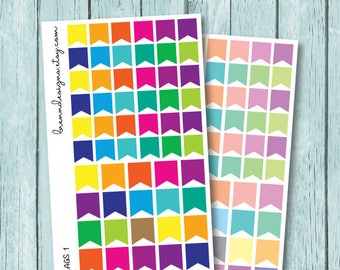 Flags Stickers, Functional Planning, Small Page Flags, Functional Planner Stickers