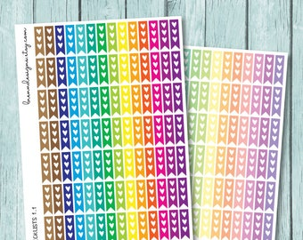 Small Heart Flag Checklists, To Do List Stickers, Functional Planner Stickers