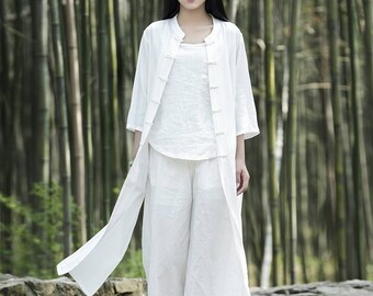 Women cotton and linen Kung Fu clothes – Original Asian Kung Fu Style Coat