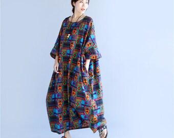 Cotton Dress Etsy