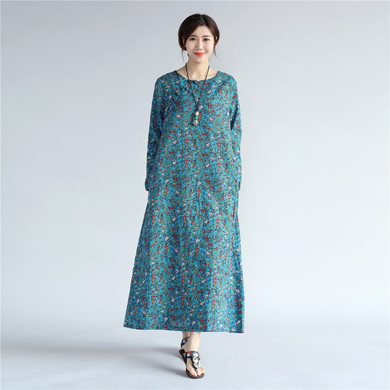 88d5963dae3 Women Chinese Style Dress Eastern Style Womens Tea Length
