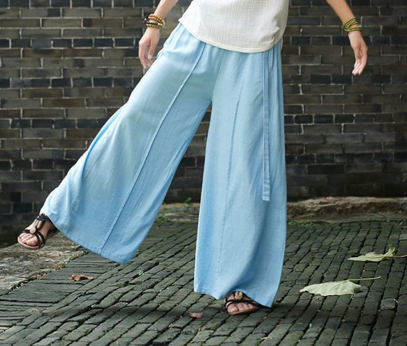 1d24252bd4 2019 NEW Women Linen and Cotton Lantern Palazzo Dancing Pants