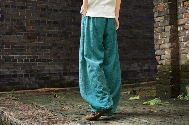6a6e28e55d 2019 NEW Women Linen Lantern Pants Original Retro Style