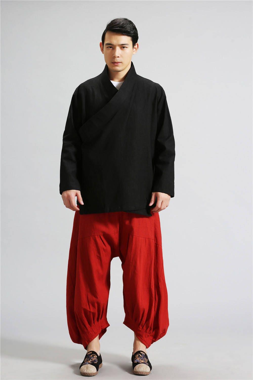 b5b001ed34 Linen Tai Chi Clothes – Zen Style Hangfu Men's Linen Tops