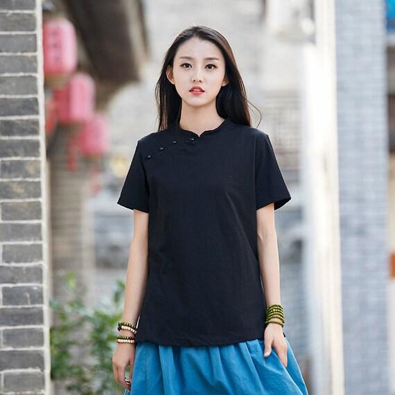 2018 New Cotton Retro Chinese Style Blouses Retro Chinese Etsy