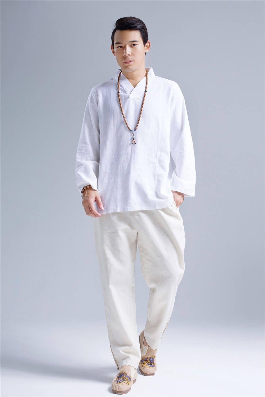 07d06a1533a8f White linen tops new zen style hangfu white men linen etsy jpg 1000x1500 Linen  tops