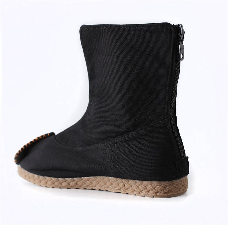 Asian Style Pure Color Natural Canvas Boot