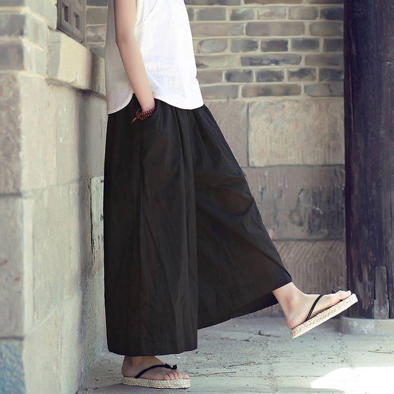 1d36f8ef94 Women cotton linen casual small pants Retro solid color