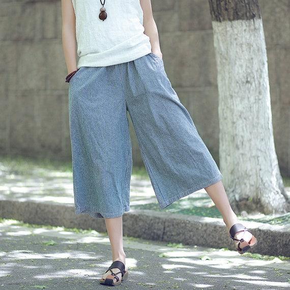 ca4a4acdba02fd Women cotton linen casual small pants Art casual pants | Etsy