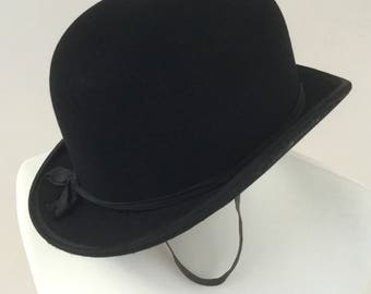 2e0982240a8 Vintage ladies black Bowler hat