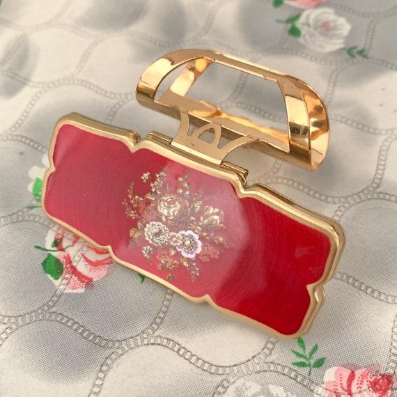 Stratton gold tone Lipview lipstick holder, unused with box, c1990s handbag lip mirror