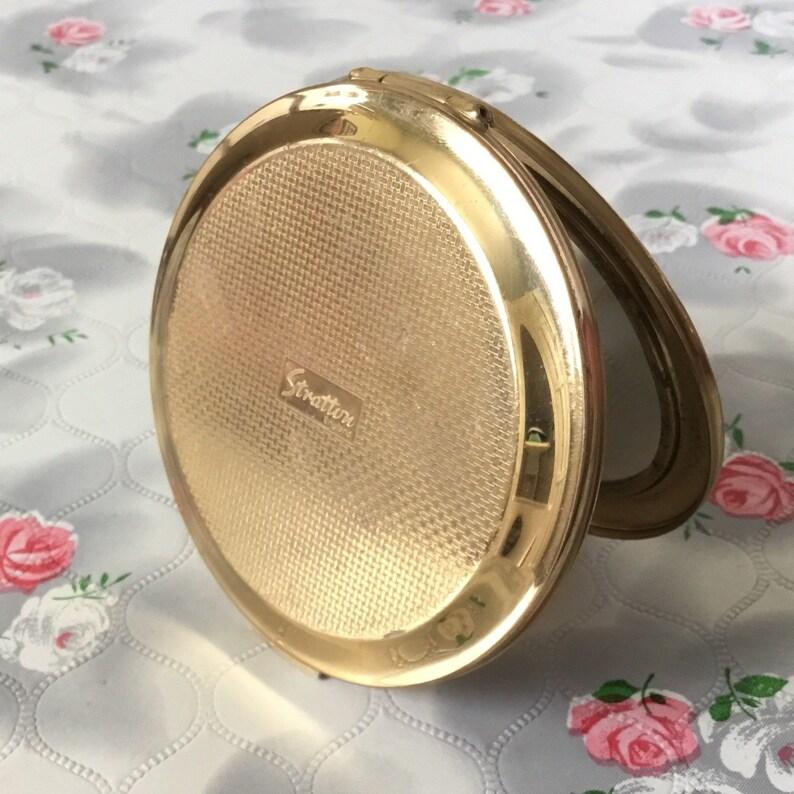 Reise Tasche Handtasche Kompakte Make-up Kosmetik Spiegel Schwan Muster Licht Rosa Geschnitzte Mini Tragbare Spiegel Schminkspiegel