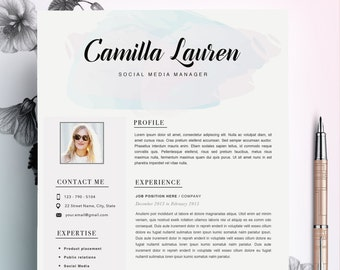 fashion resume cv template resume template creative resume etsy