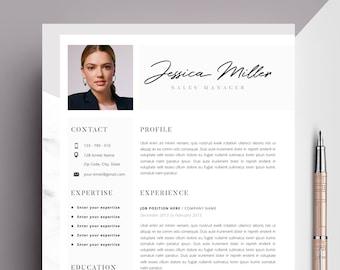 resume template word cv design resume template cv word etsy