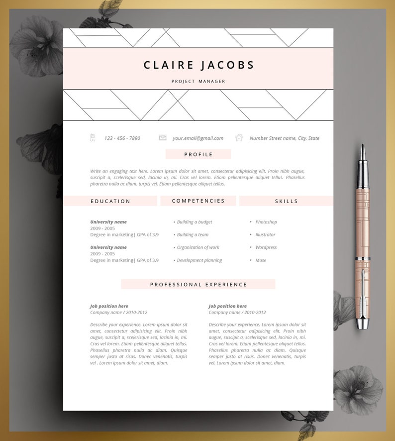 mod u00e8le de cv cv mod u00e8le modifiable en ms word et pages