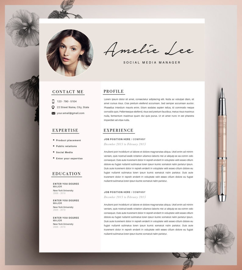 Creative Resume Template CV Instant Download