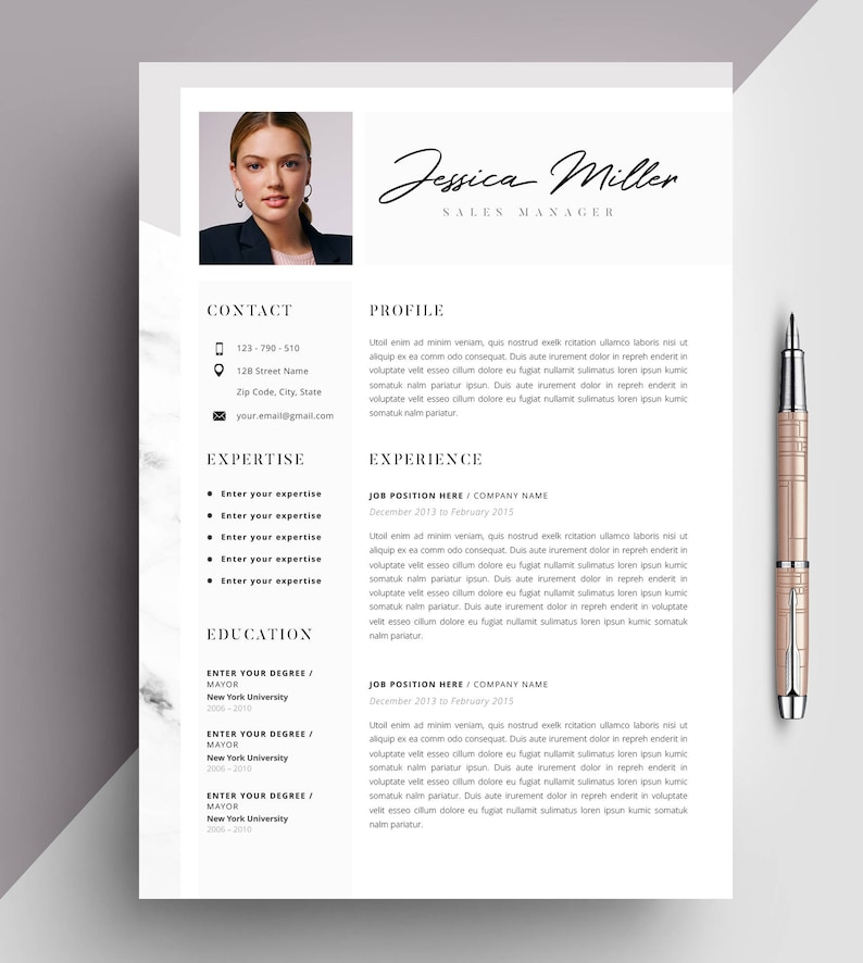 professional resume template cv template editable in ms word