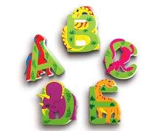 Nursery Wooden Letters - Dinosaur Letters - Wood Name Letters - Children's Letters - Baby Shower Gift - Dinosaur Nursery Decor