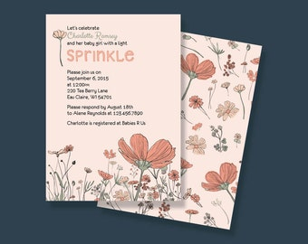 Baby Girl Sprinkle Invitation