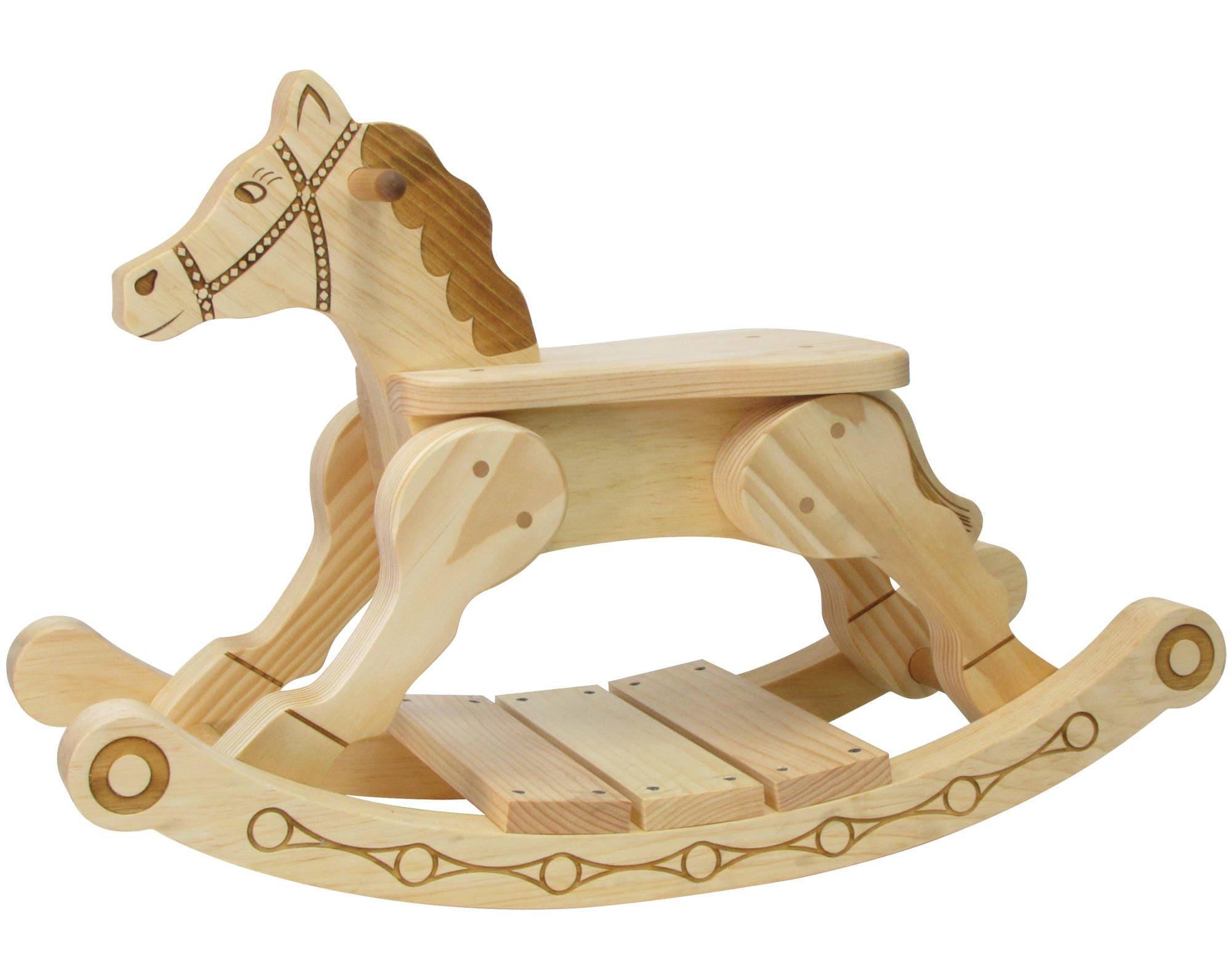 Rocker-feller Rocking Horse with Optional Name Plate