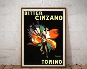 "Stunning Vintage Alcohol Poster Art ~ CANVAS PRINT 18x12/"" ~ Cinzano Zebras"