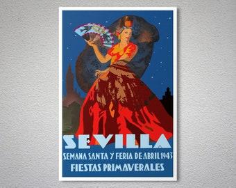 Sevilla Poster Etsy