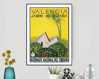 Nature painting Spain Travel Posters Valencia illustration Wall Art Souvenir gift Albufera de Val\u00e8ncia Print Albufera drawing