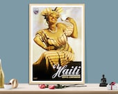 Haiti Coffee Corporation Vintage Food Drink Poster - Poster Paper, Sticker or Canvas Print Gift Idea Wall Decor