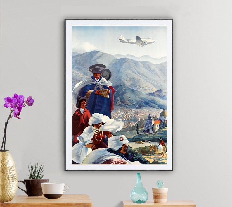 In The Ecuadorian Andes Vintage Travel Poster  Poster Paper image 0