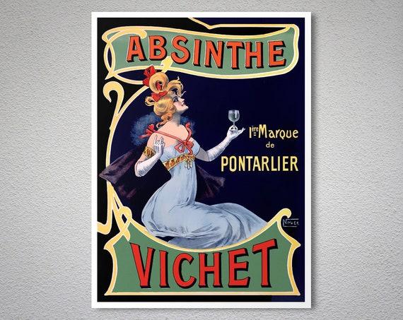Absinthe Robette Reproduction Vintage Advertisement Poster 24 x 36