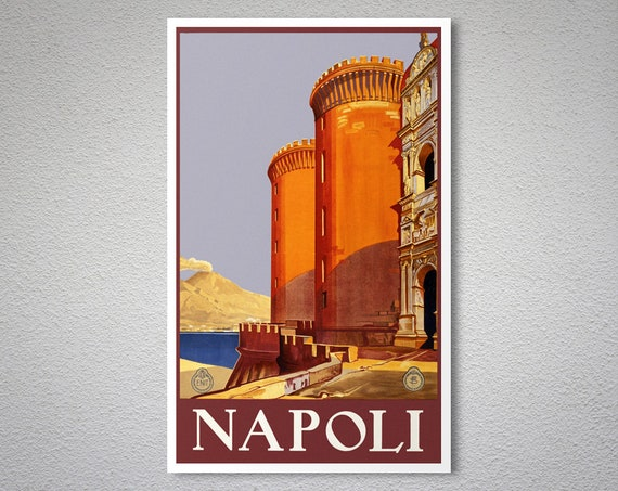Napoli Travel Vintage Poster Print on Paper or Canvas