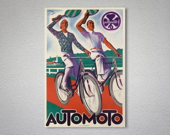 Automoto Vintage Bicycle Poster - Poster Print, Sticker or Canvas Print / Gift Idea