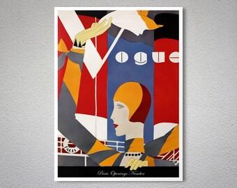 Vogue Cover September 1927 Vintage Vogue Poster - Poster Print, Sticker or Canvas Print / Gift Idea