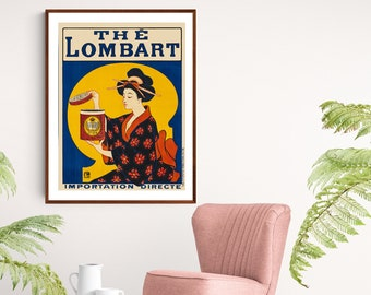 The Lombart Vintage Food&Drink Poster - Poster Paper, Sticker or Canvas Print / Gift Idea