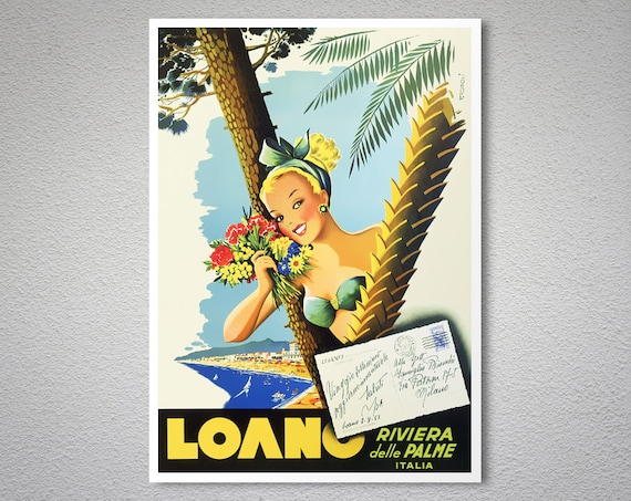 Loano Vintage Art Travel Advertisement Poster Picture Print
