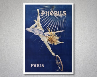 Cycles Phebus - Vintage Bicycle Poster, 1890 - Poster Print, Sticker or Canvas Print / Gift Idea