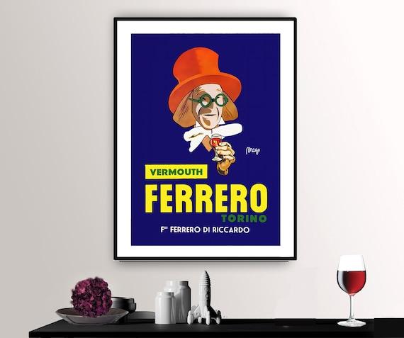 Cinzano Vermouth Torino Cappiello Poster Giclee Print on Canvas or Paper