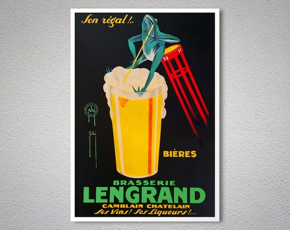 BRASSERIE LENGRAND POSTER VINTAGE PHY ART PRINT 16X20