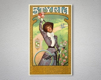 Styria Cycles Vintage Bicycle Poster - Poster Print, Sticker or Canvas Print / Gift Idea
