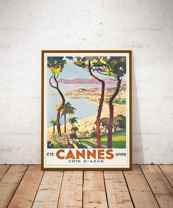 Vintage Art Deco French Travel Poster Beausoleil Monaco Cote D/' Azur Retro