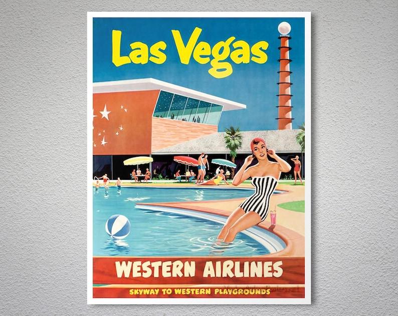 Las Vegas, United States Vintage Travel Poster - Poster Print, Sticker or  Canvas Print / Gift Idea