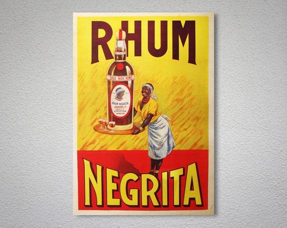 Rhum Negrita Essen Trinken Poster Plakat Druck Aufkleber Oder Leinwand Drucken Geschenkidee Weihnachtsgeschenk