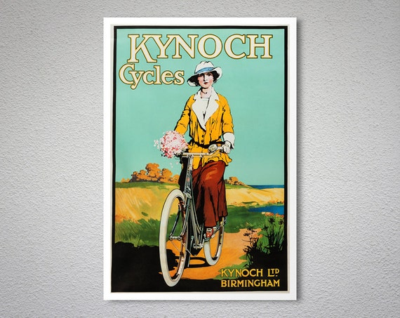 Cycles Gladiator Vintage Style 1895 Art Nouveau Bicycle Poster 24x32