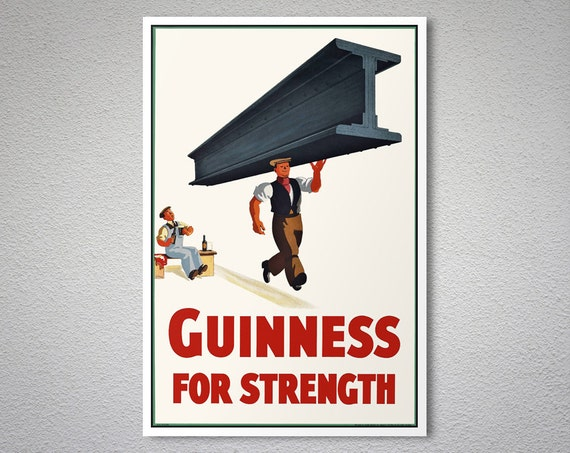 Guinness per forza Vintage Food   Drink Poster stampa di  8034cb7613d2