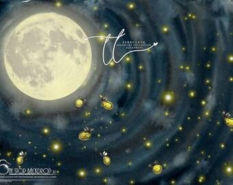 Glare Free Vinyl 7/' wide by 5/' tall Fireflies Backdrop TL1193