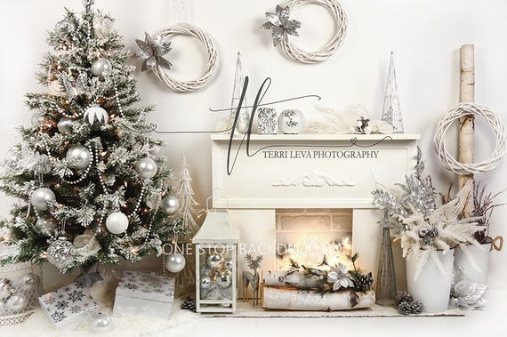 White Christmas Images Free.Silver White Christmas Backdrop On Glare Free Vinyl 7 Wide By 5 Tall